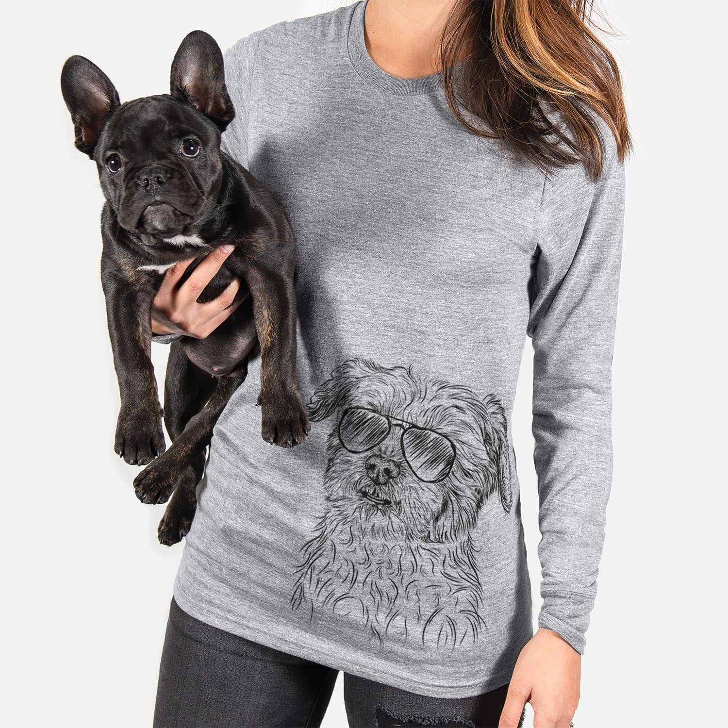 Roxie the Schnauzer Shih Tzu Mix - Long Sleeve Crewneck