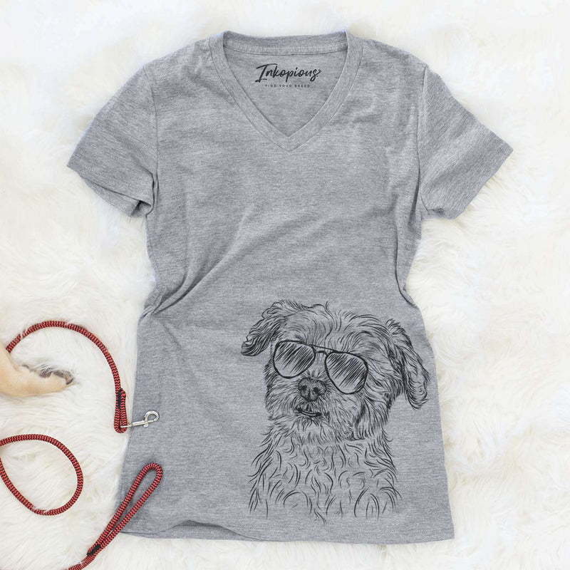 Roxie the Schnauzer Shih Tzu Mix - Women's Modern Fit V-neck Shirt