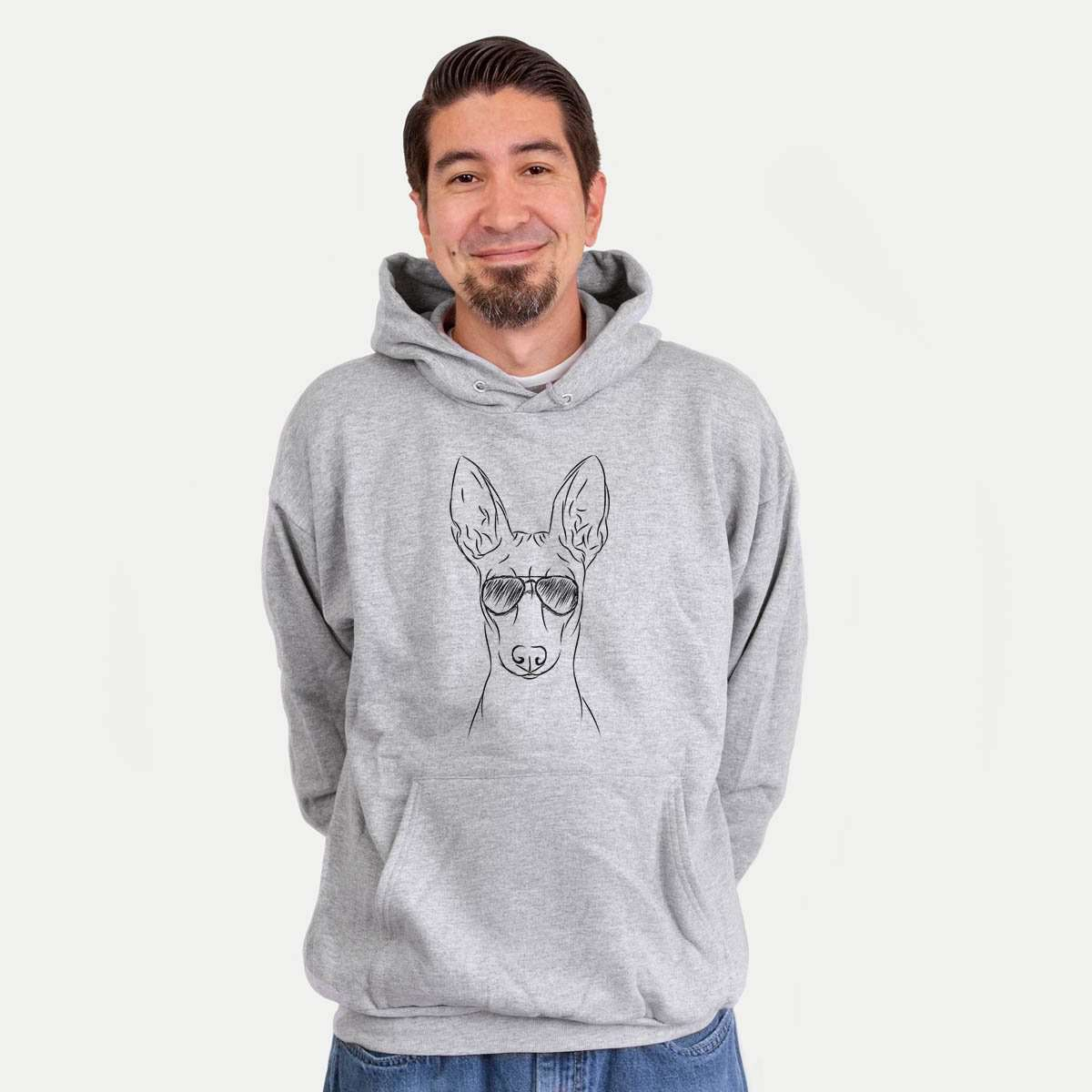 Ruadh the Pharaoh Hound - Mens Hooded Sweatshirt