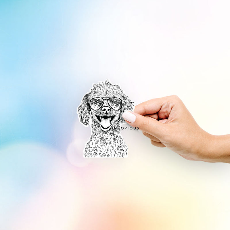 Rusty the Toy Poodle - Decal Sticker