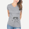 Sagan the Coonhound - Women's Modern Fit V-neck Shirt