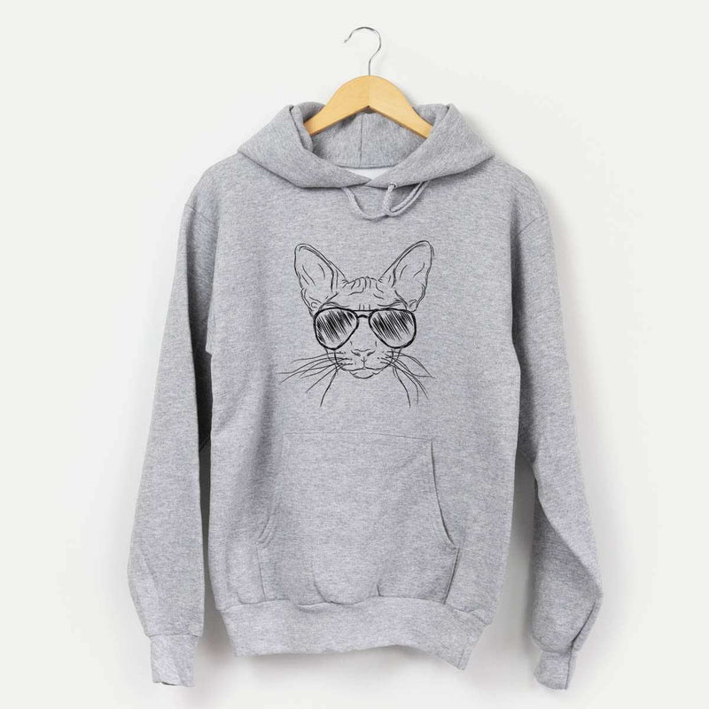 Sammy the Sphynx Cat - Mens Hooded Sweatshirt