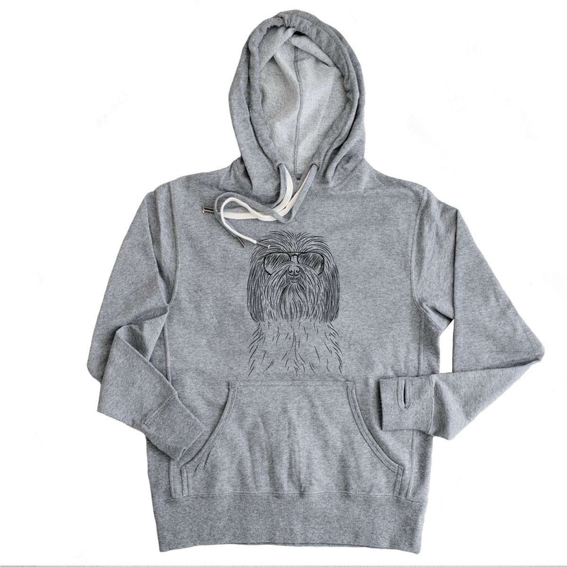 Scully the Shih Tzu - Grey French Terry Hooded Sweatshirt