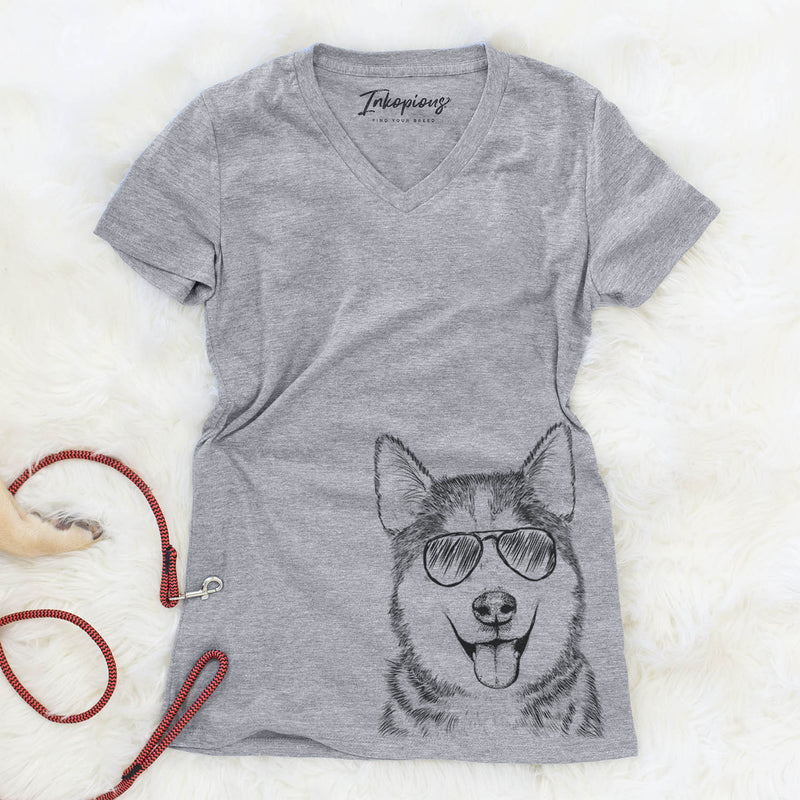Sesi the Siberian Husky - Women's Modern Fit V-neck Shirt