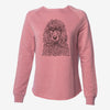 Shilo the Irish Water Spaniel - Cali Wave Crewneck Sweatshirt