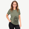 Shilo the Irish Water Spaniel - Unisex V-Neck Shirt