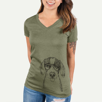 SophiePea the Mixed Breed - Women's Modern Fit V-neck Shirt