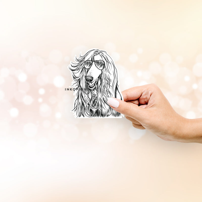 Sterling the Afghan Hound - Decal Sticker