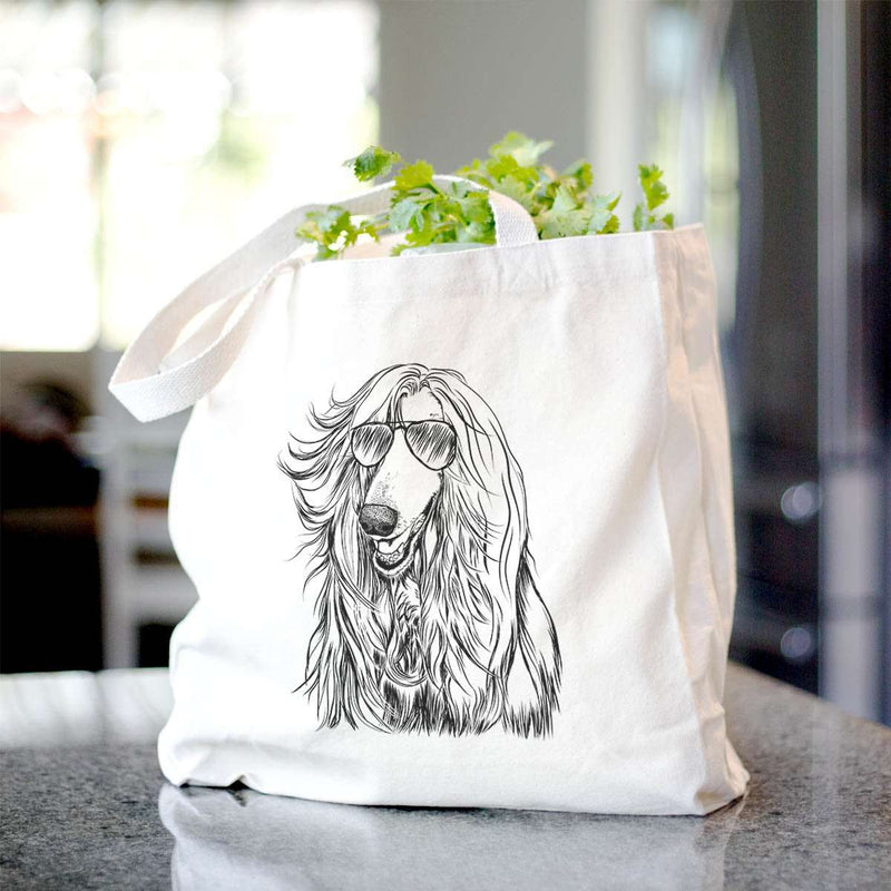 Sterling the Afghan Hound - Tote Bag