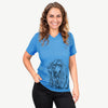 Sterling the Afghan Hound - Unisex V-Neck Shirt