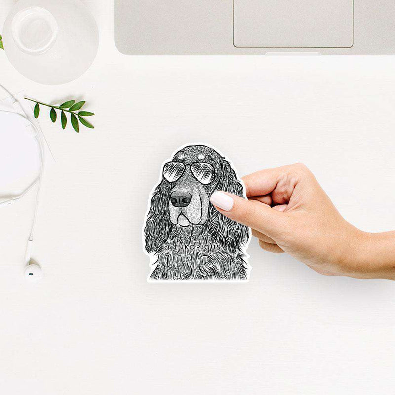 Stormy the Gordon Setter - Decal Sticker
