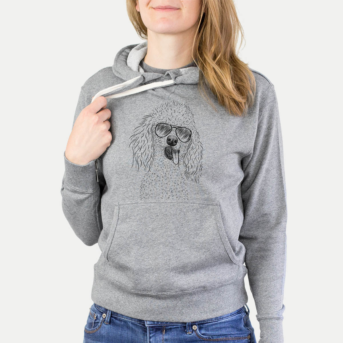 Super Joey the Toy Poodle - French Terry Hooded Sweatshirt