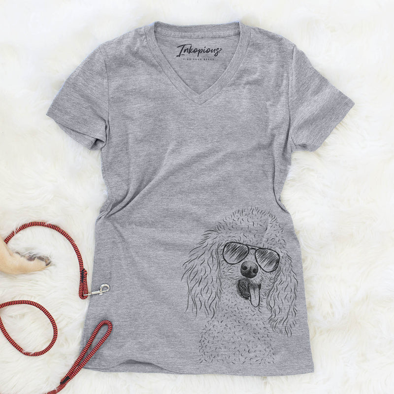 Super Joey the Toy Poodle - Women's Modern Fit V-neck Shirt
