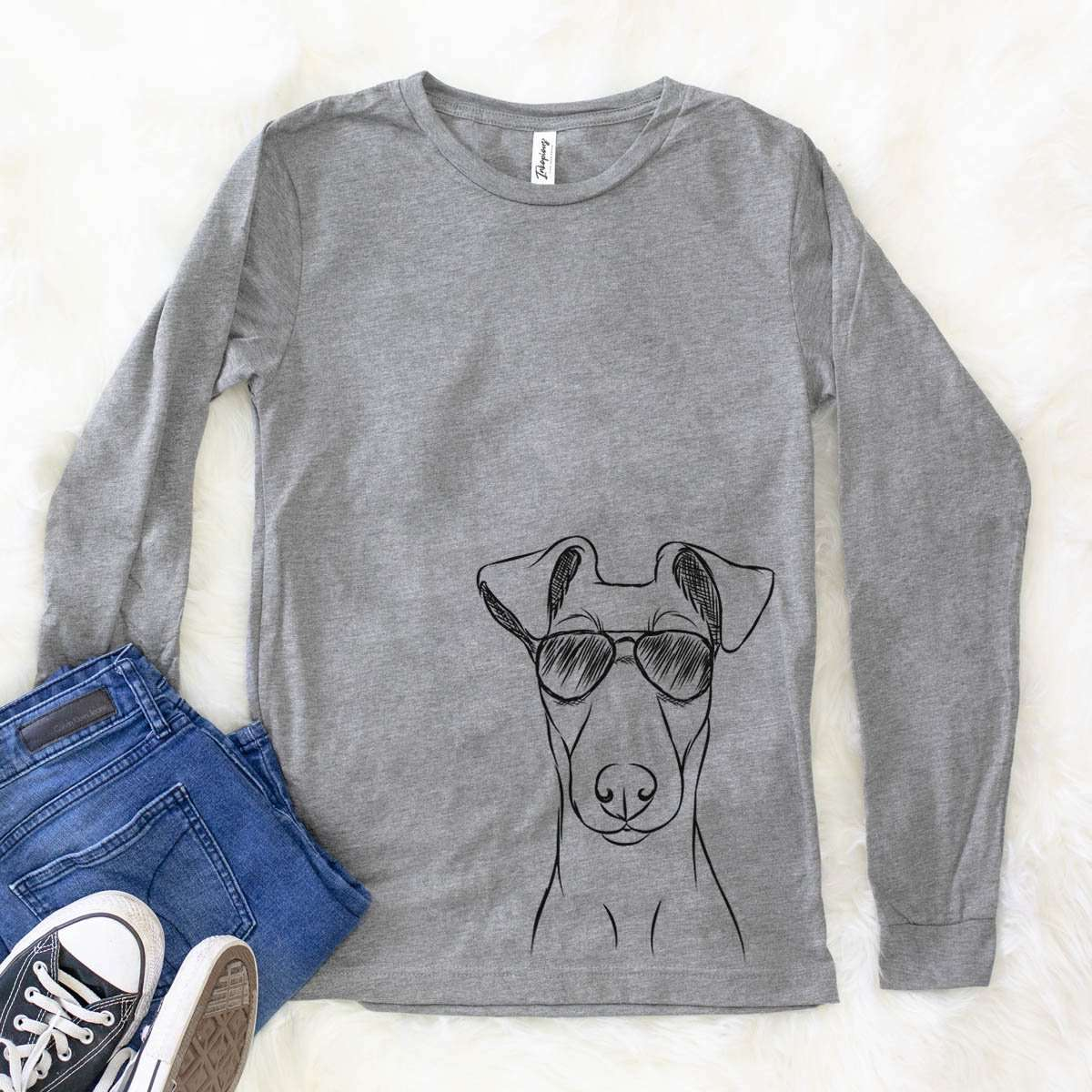 Tanner the Fox Terrier - Long Sleeve Crewneck