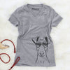 Tanner the Fox Terrier - Women's Modern Fit V-neck Shirt