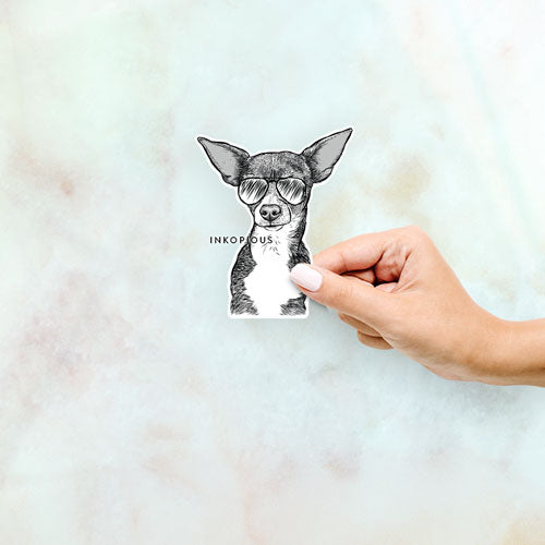 Tiny Archie the Mixed Breed - Decal Sticker