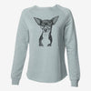 Tiny Archie the Mixed Breed - Cali Wave Crewneck Sweatshirt