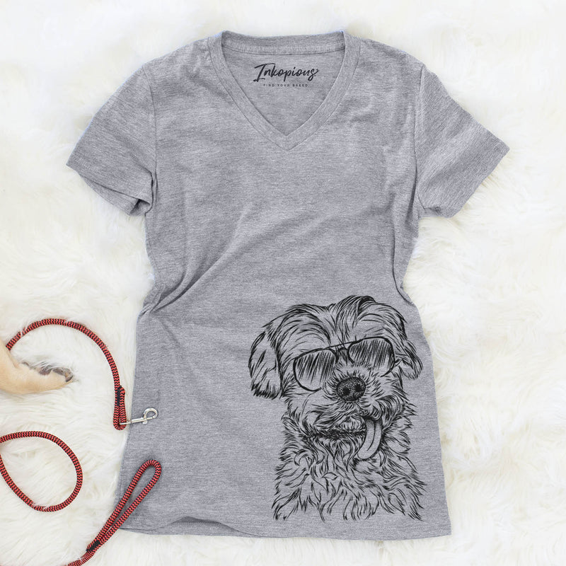 Tiny Titan the Shih Tzu - Women's Modern Fit V-neck Shirt