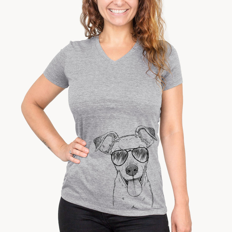Tyler the Mixed Breed - Women's Modern Fit V-neck Shirt