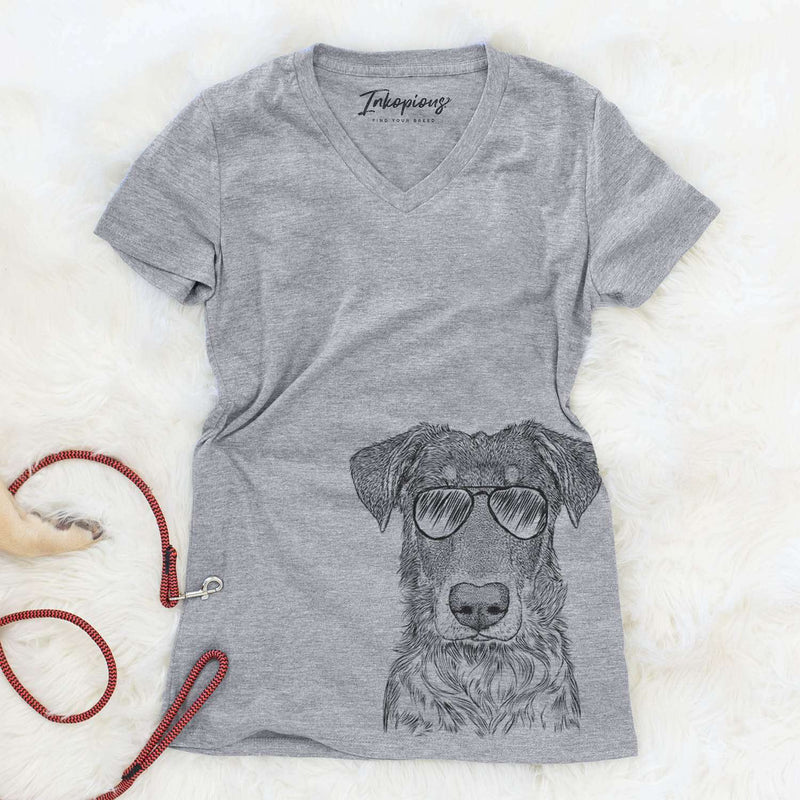 Wesson the Beauceron - Women's Modern Fit V-neck Shirt