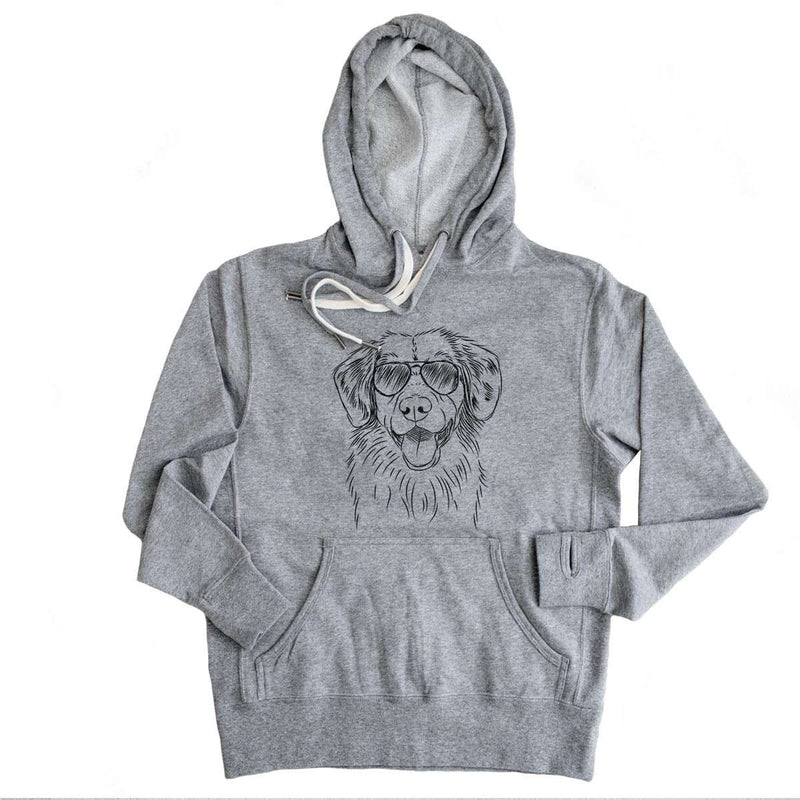 Weston the Nova Scotia Duck Tolling Retriever - Grey French Terry Hooded Sweatshirt