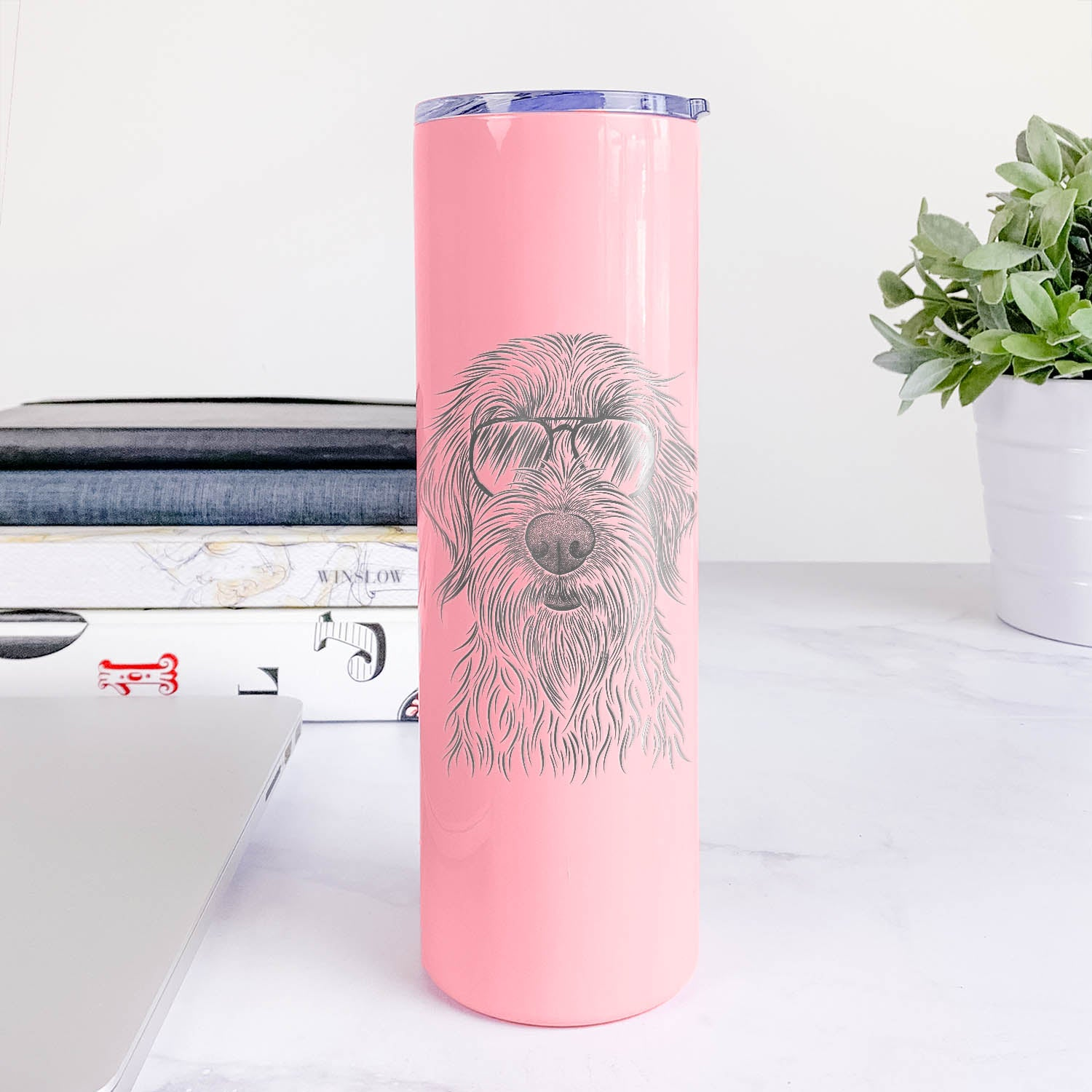 Wilkins the Wirehaired Pointing Griffon - 20oz Skinny Tumbler