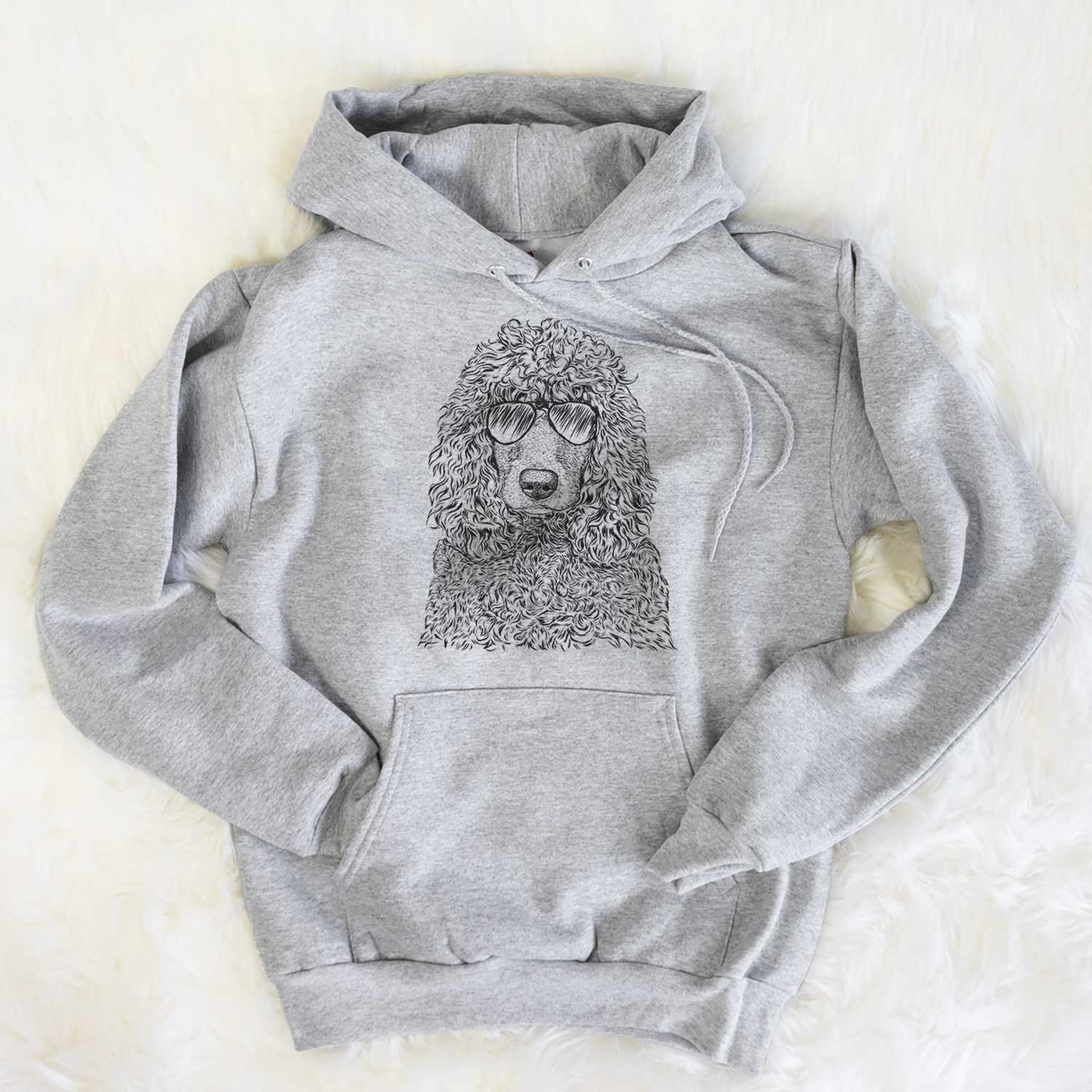 Shilo the Irish Water Spaniel - Unisex Hooded Sweatshirt