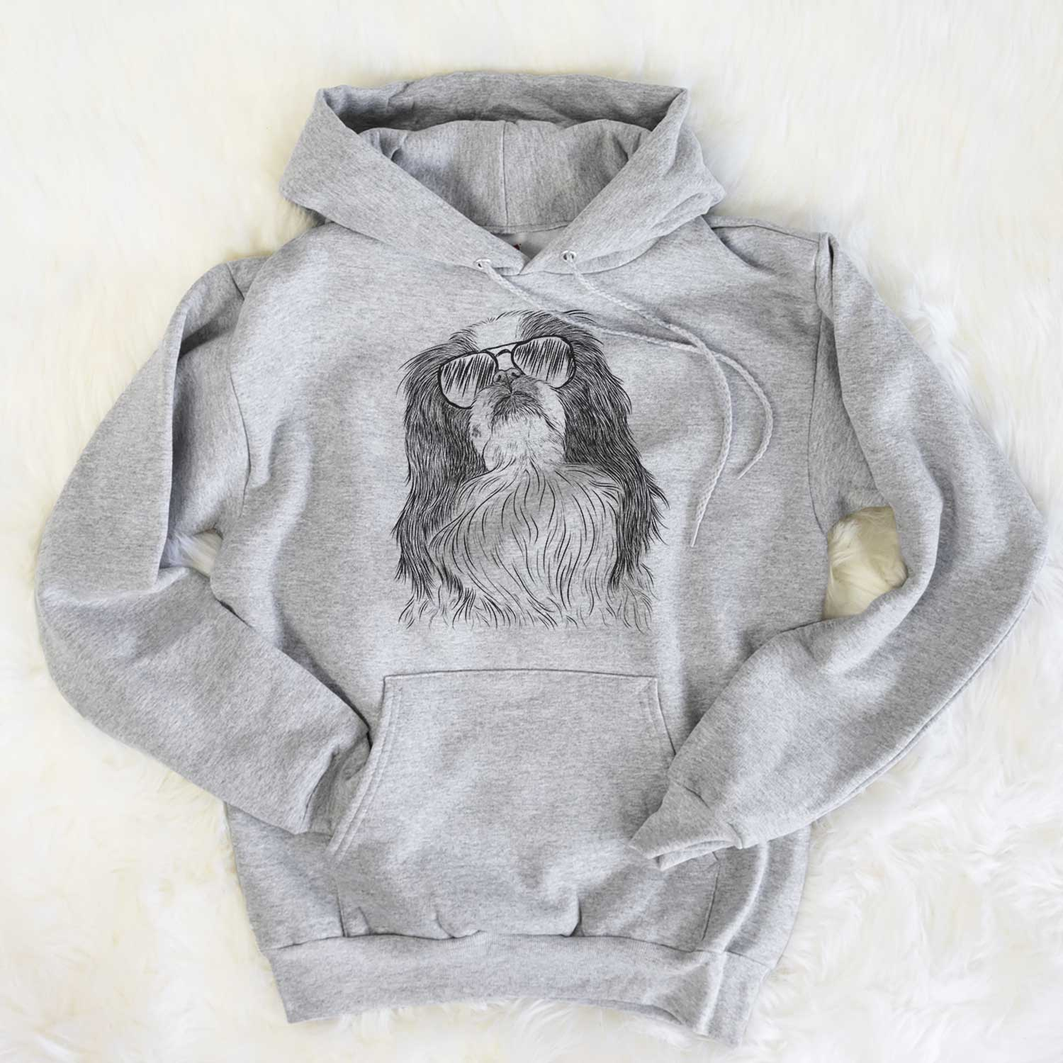 Suki the Japanese Chin - Unisex Hooded Sweatshirt