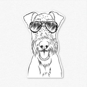 Andy the Airedale Terrier - Decal Sticker