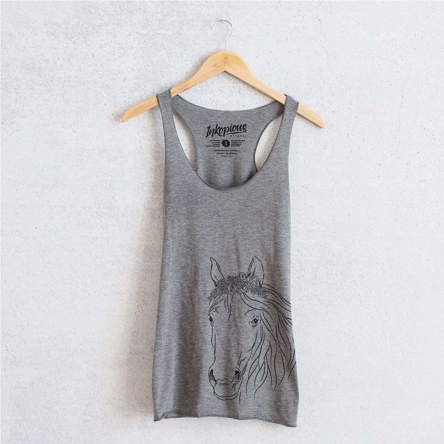 Aria the Horse - Tri-Blend Racerback Tank Top