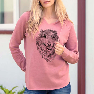 Addie the Mixed Breed - Cali Wave Hooded Sweatshirt