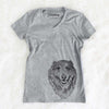 Addie the Mixed Breed - Women's Modern Fit V-neck Shirt