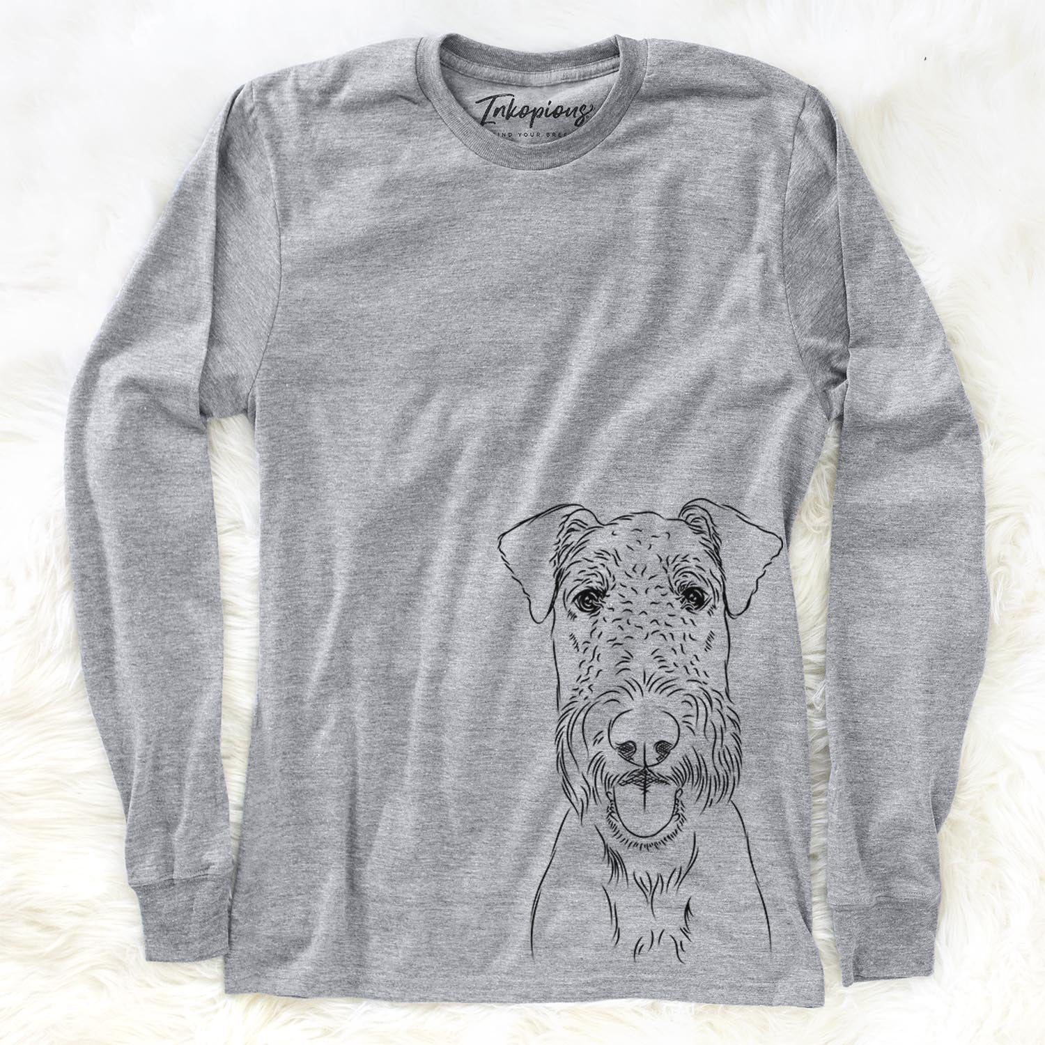 Andy the Airedale Terrier - Long Sleeve Crewneck