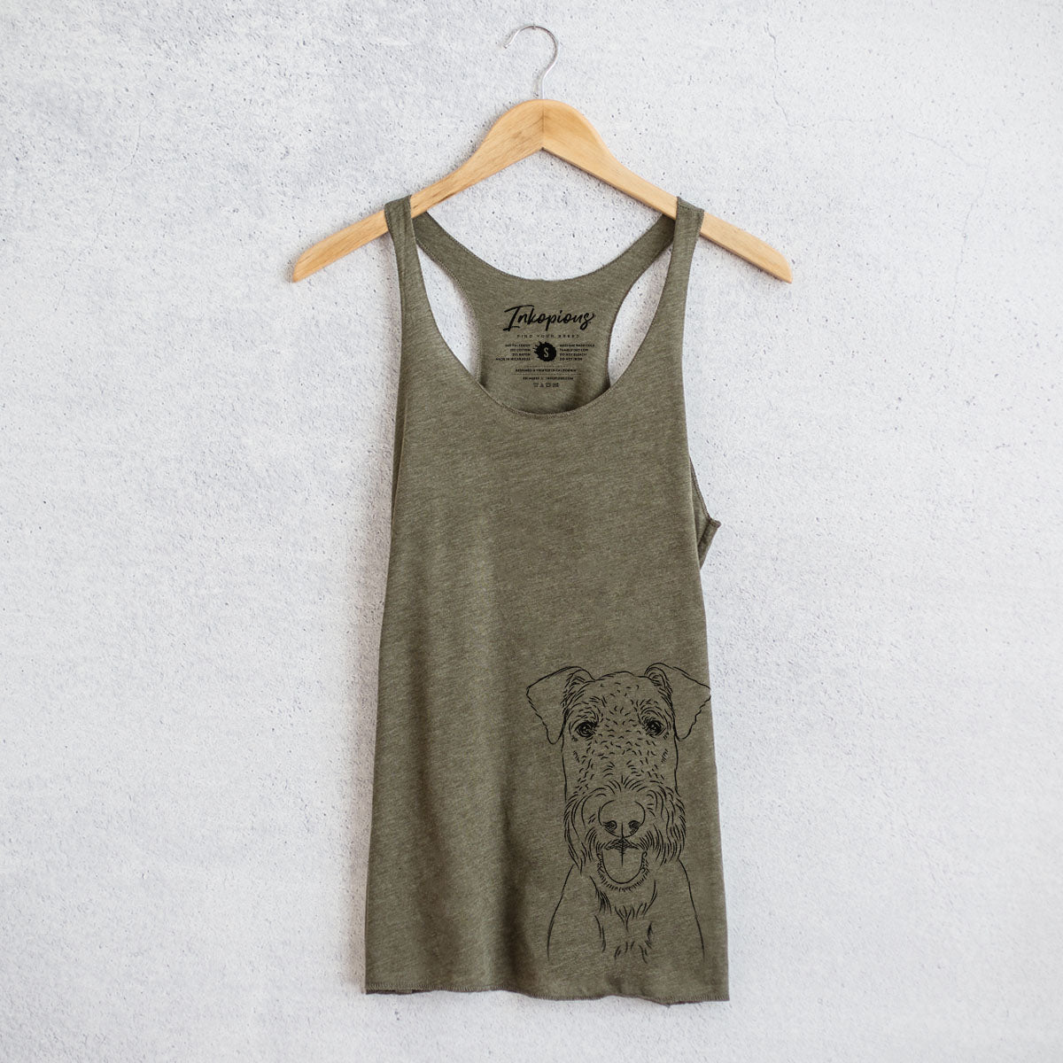 Andy the Airedale Terrier - Racerback Tank Top