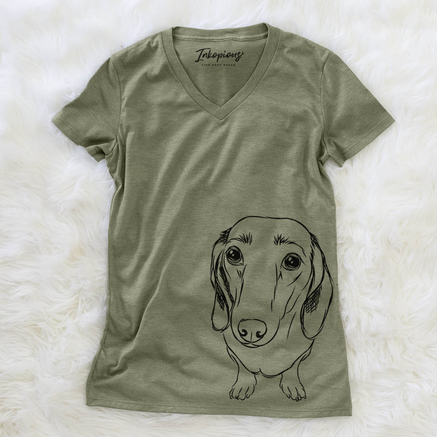 Annabelle the Dachshund - Women's Modern Fit V-neck Shirt