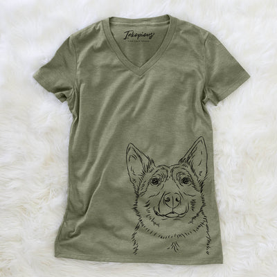 Austin the Heeler - Women's Modern Fit V-neck Shirt
