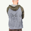 Austin the Heeler - Unisex Raglan Zip Up Hoodie
