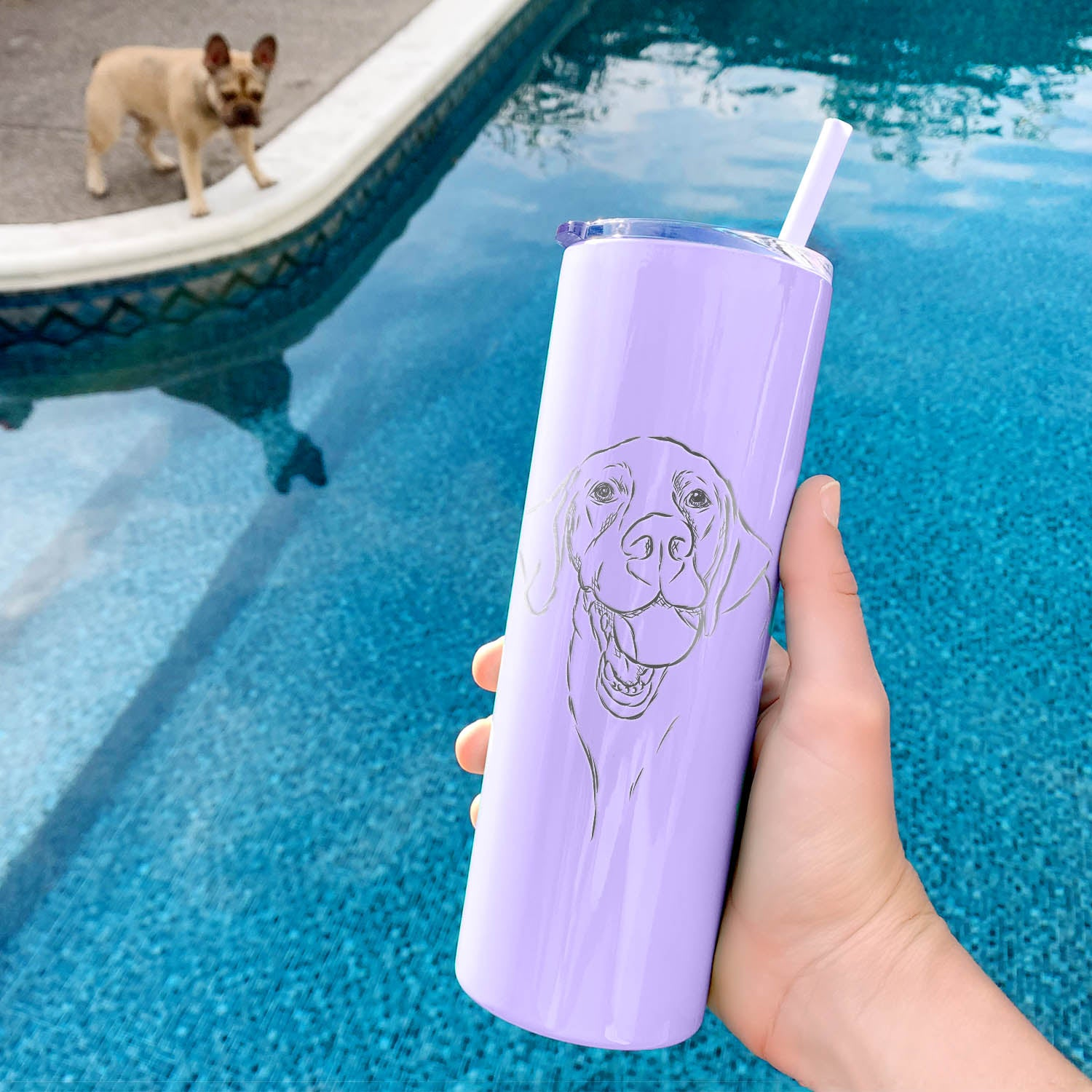 Bailey the Labrador Retriever - 20oz Skinny Tumbler