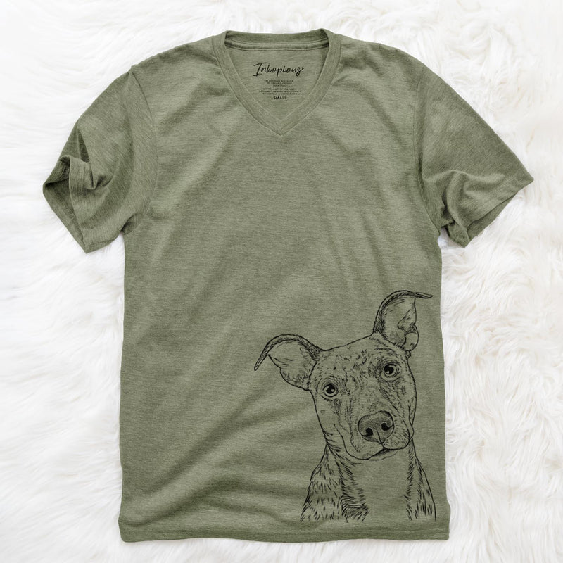 Bianca the Mixed Breed - Unisex V-Neck Shirt