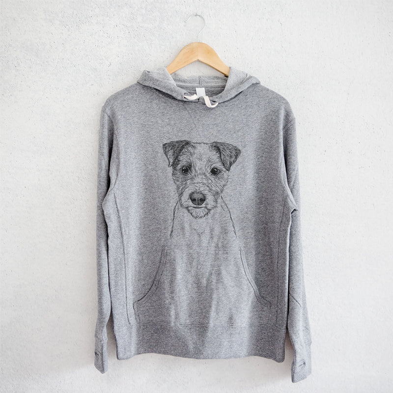 Bogart the Parsons Russell Terrier - French Terry Hooded Sweatshirt
