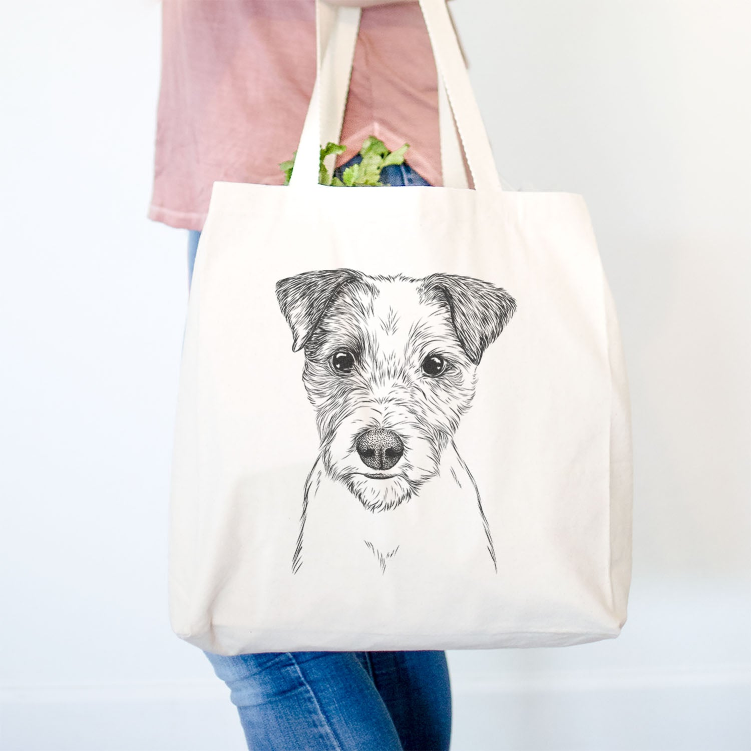I Love Irish Terriers Cotton Shopping Bag with gusset and long handles