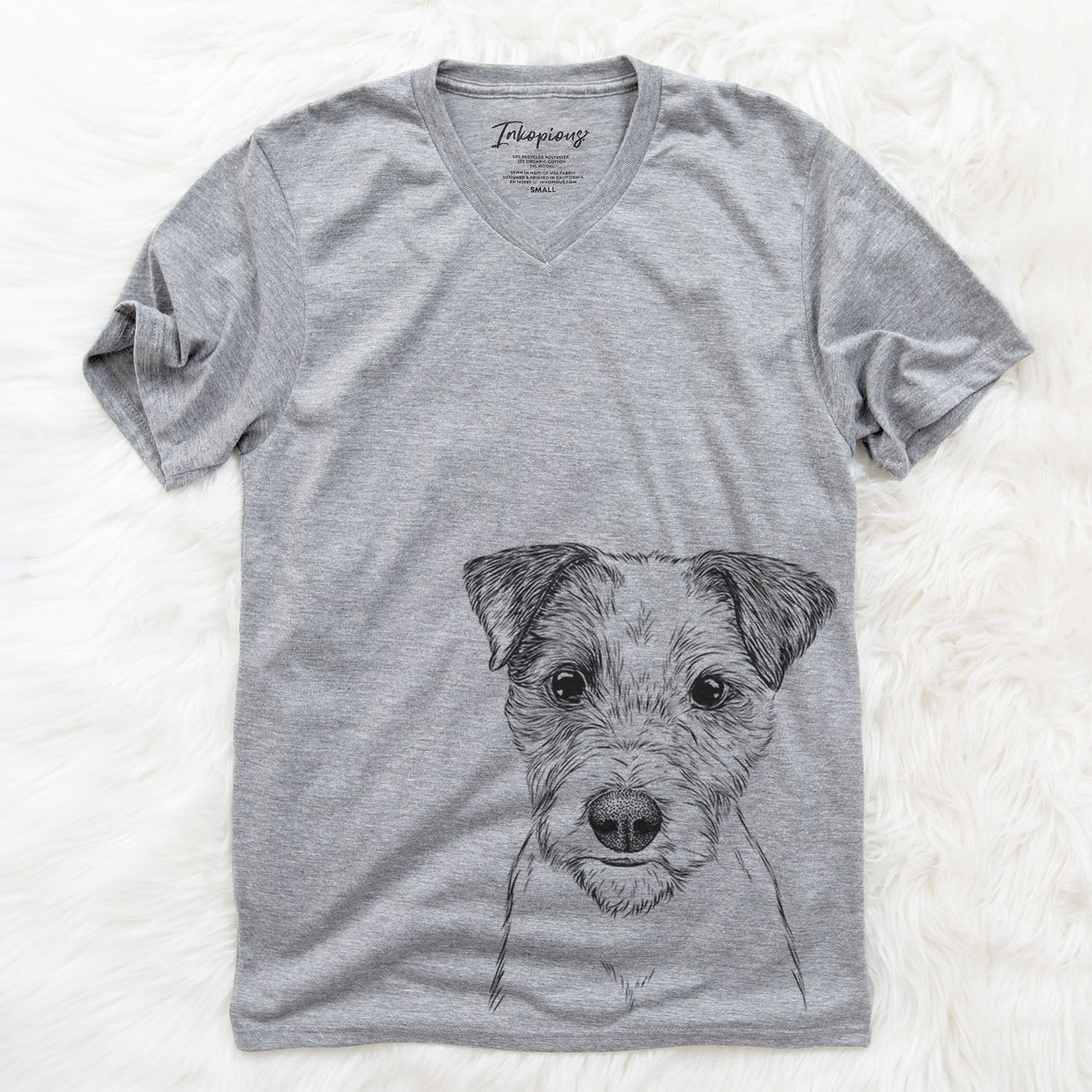 Bogart the Parsons Russell Terrier - Unisex V-Neck Shirt