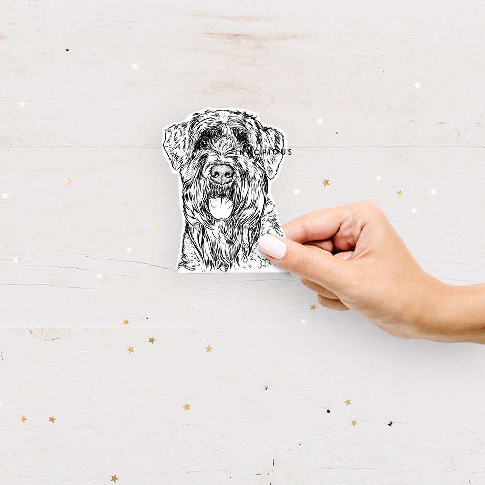 Bonnie the Bouvier des Flandres - Decal Sticker