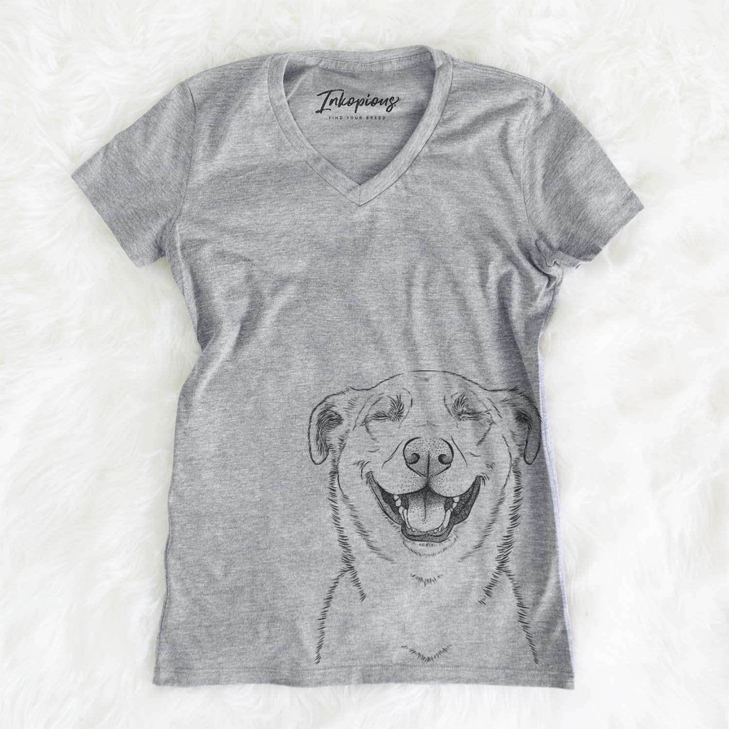 Chancellor the Mixed Breed - Women's Modern Fit V-neck Shirt