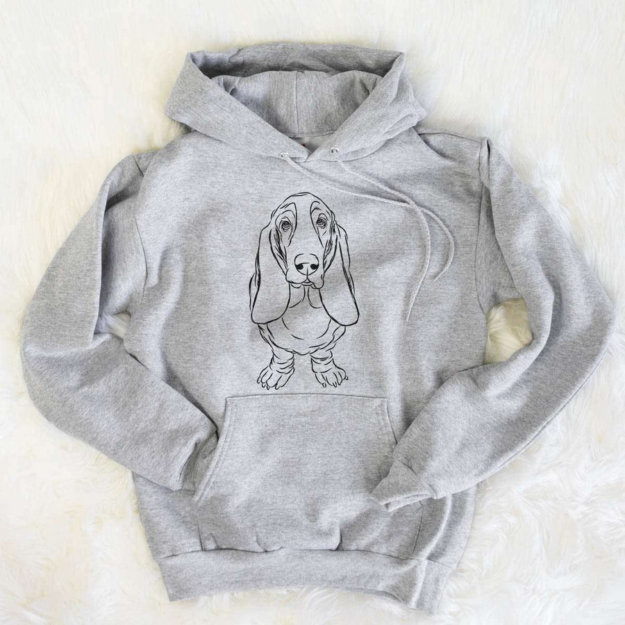 Charlie the Basset Hound - Mens Hooded Sweatshirt