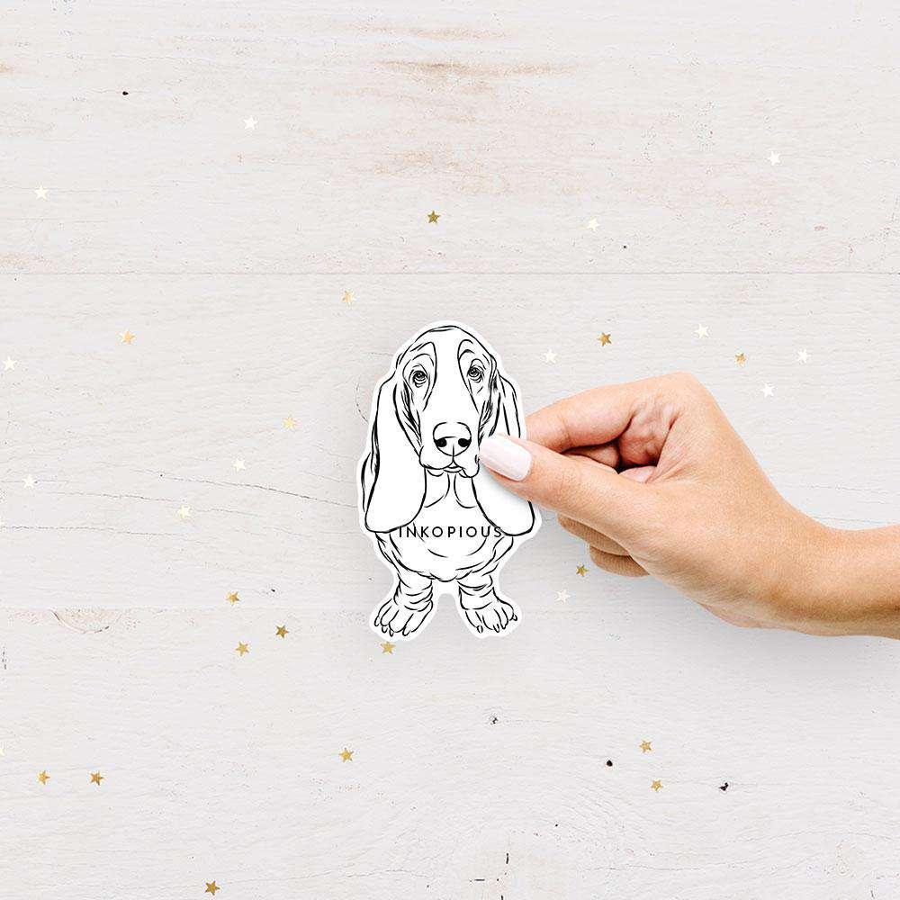 Charlie the Basset Hound - Decal Sticker