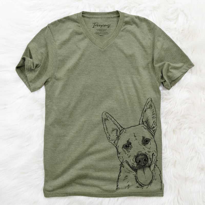 Charlie the Mixed Breed - Unisex V-Neck Shirt