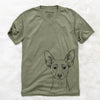 Chillie the Mini Pinscher - Unisex V-Neck Shirt
