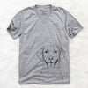 Chip the Chesapeake Bay Retriever - Unisex V-Neck Shirt