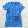 Claude the Coton de Tulear - Women's Modern Fit V-neck Shirt